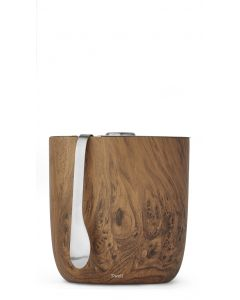 68 oz Teakwood Ice Bucket with Tongs